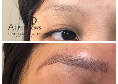 Microblading by Lise Landriault, owner of Sweet Skin in Squamish, BC